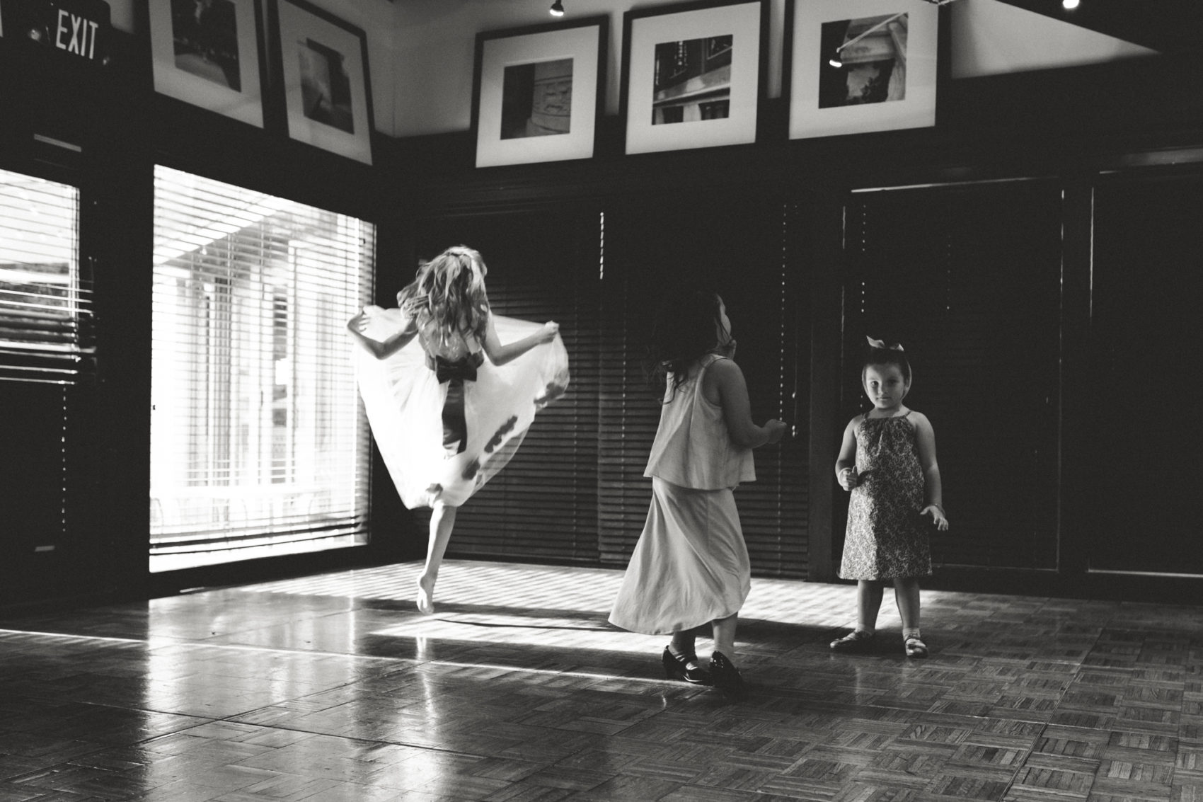 A young girl dances at a wedding reception at Weber's Inn in Ann Arbor, Michigan